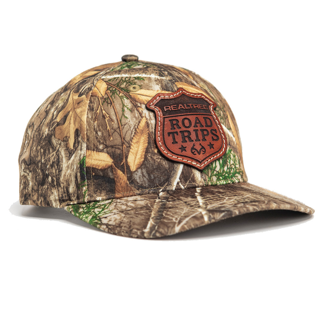 Realtree Road Trips Camo Limited Edition Leather Patch Richardson Hat in Edge
