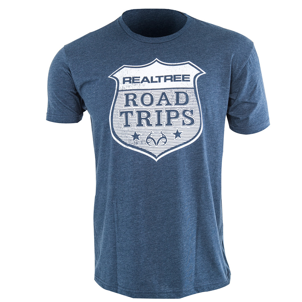 Realtree Road Trips Short Sleeve Shirts in Navy