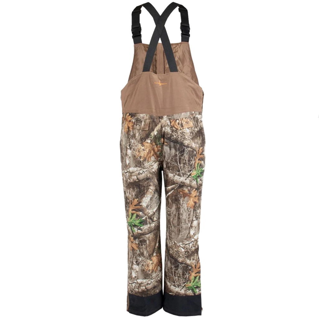 Men's Edge Camo Cedar Branch Insulated Waterproof Bibs Back