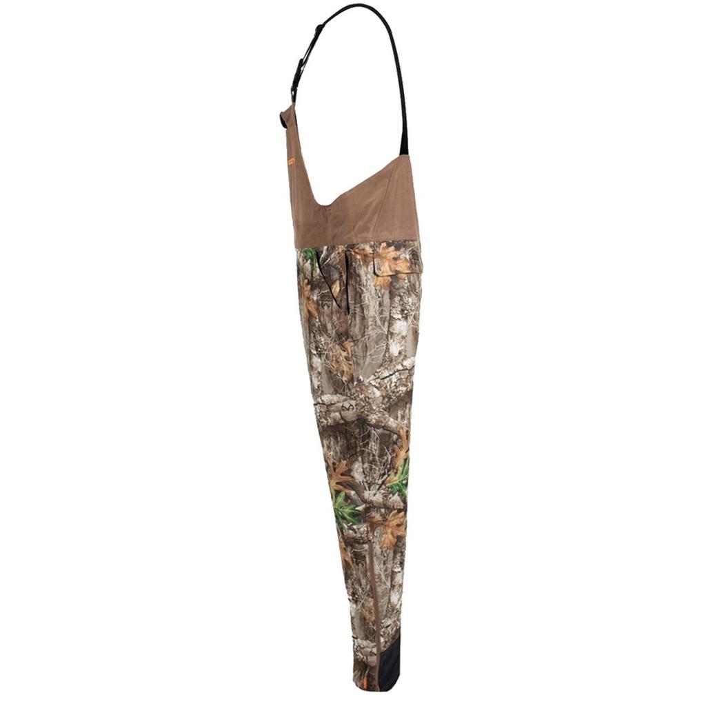 Men's Edge Camo Cedar Branch Insulated Waterproof Bibs Side