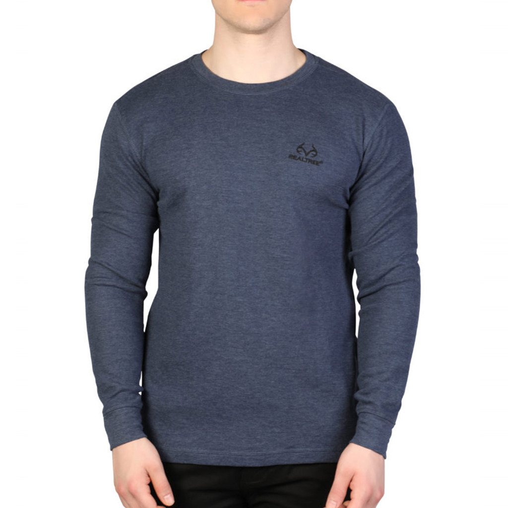 Men's Longsleeve Thermal Henley Navy