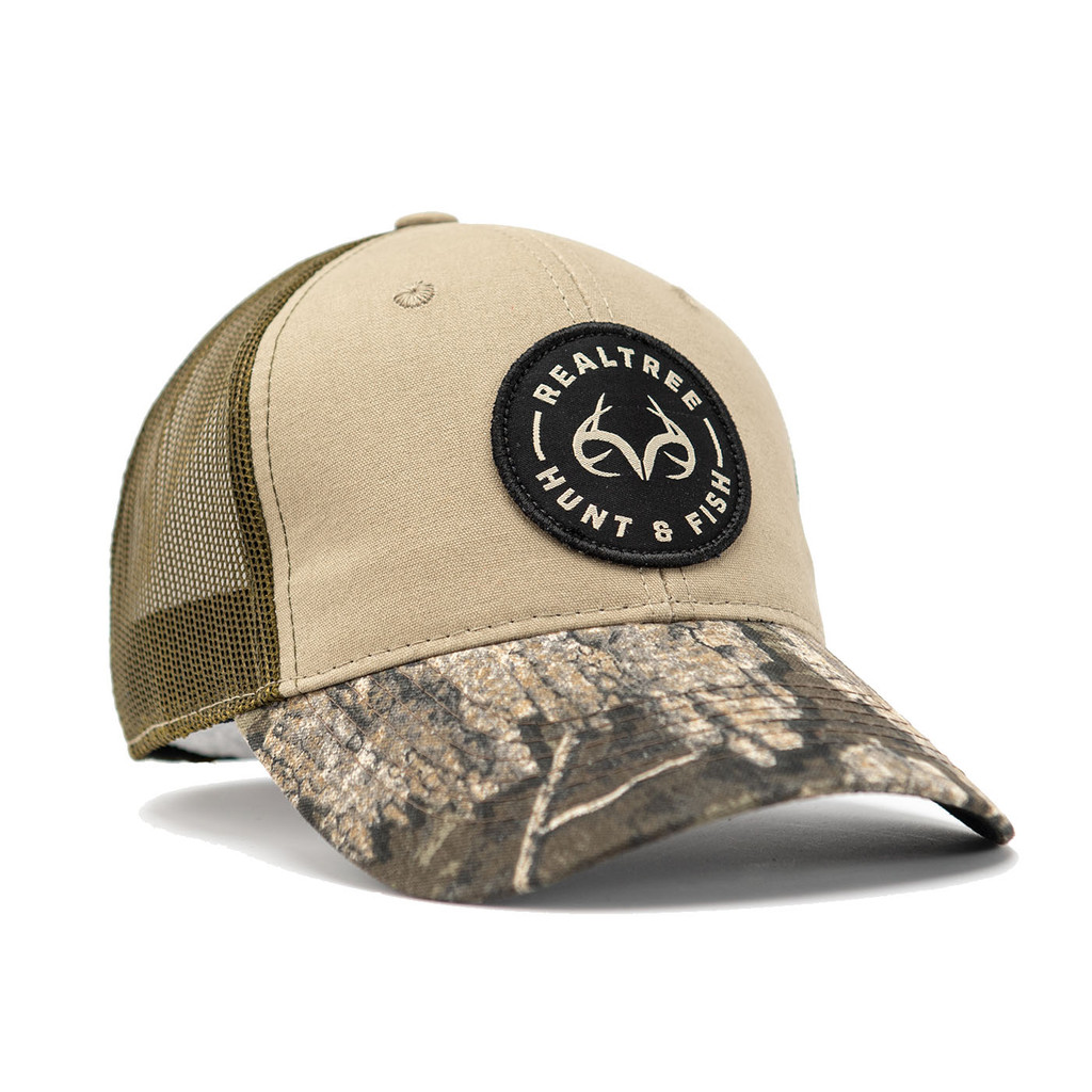Realtree Timber Hunt and Fish Patch Hat