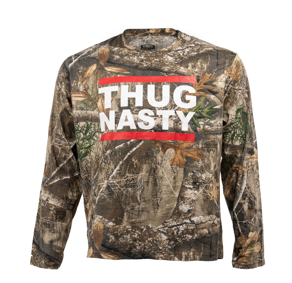 Bryce Mitchell Official Thug Nasty Realtree Edge Long Sleeve Shirt