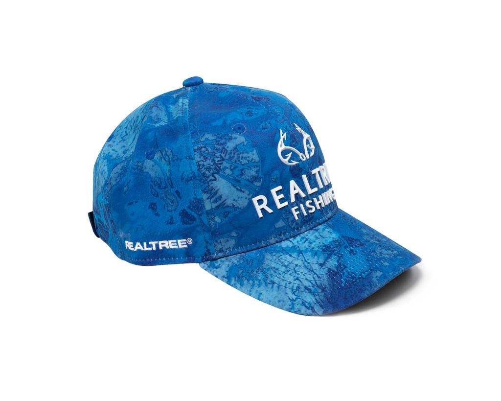 Realtree Wav3 Blue Performance Hat Side