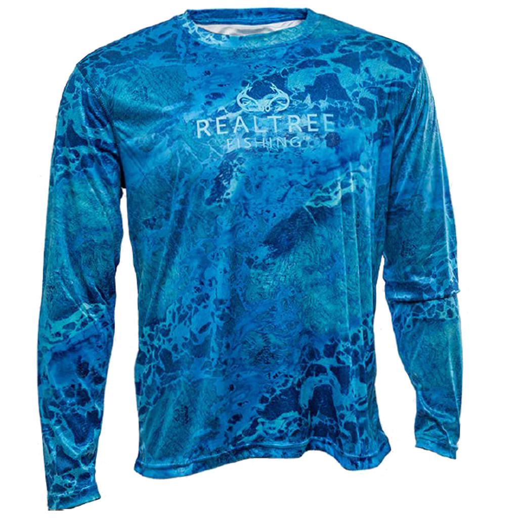 Wav3 Dark Blue Fishing Performance Shirt