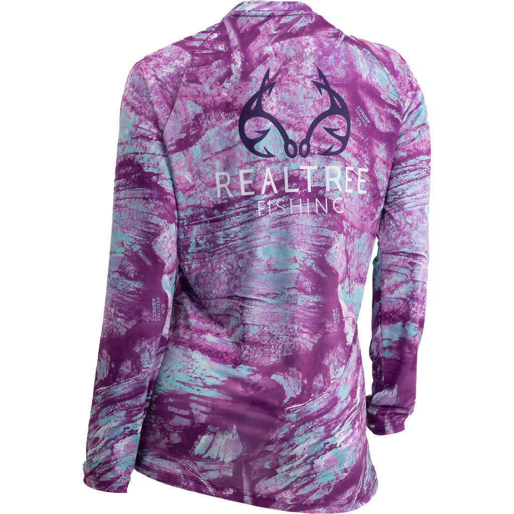 Women's Realtree Aspect Ocean Spray Fishing Performance Long Sleeve Shirt