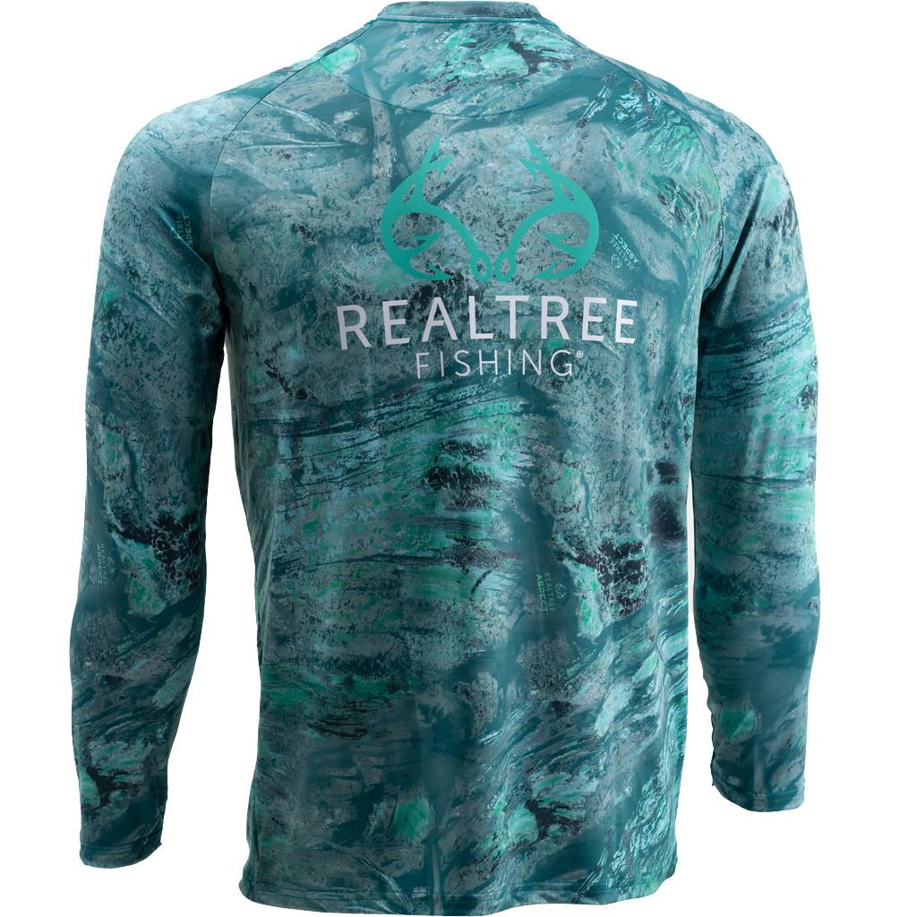 Men's Realtree Aspect Sea Foam Fishing Performance Long Sleeve Shirt