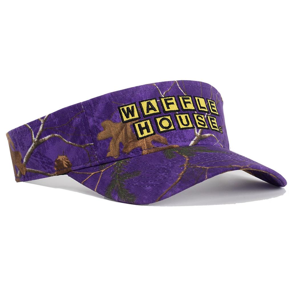 Waffle House Xtra Colors Camo Visor in Purple
