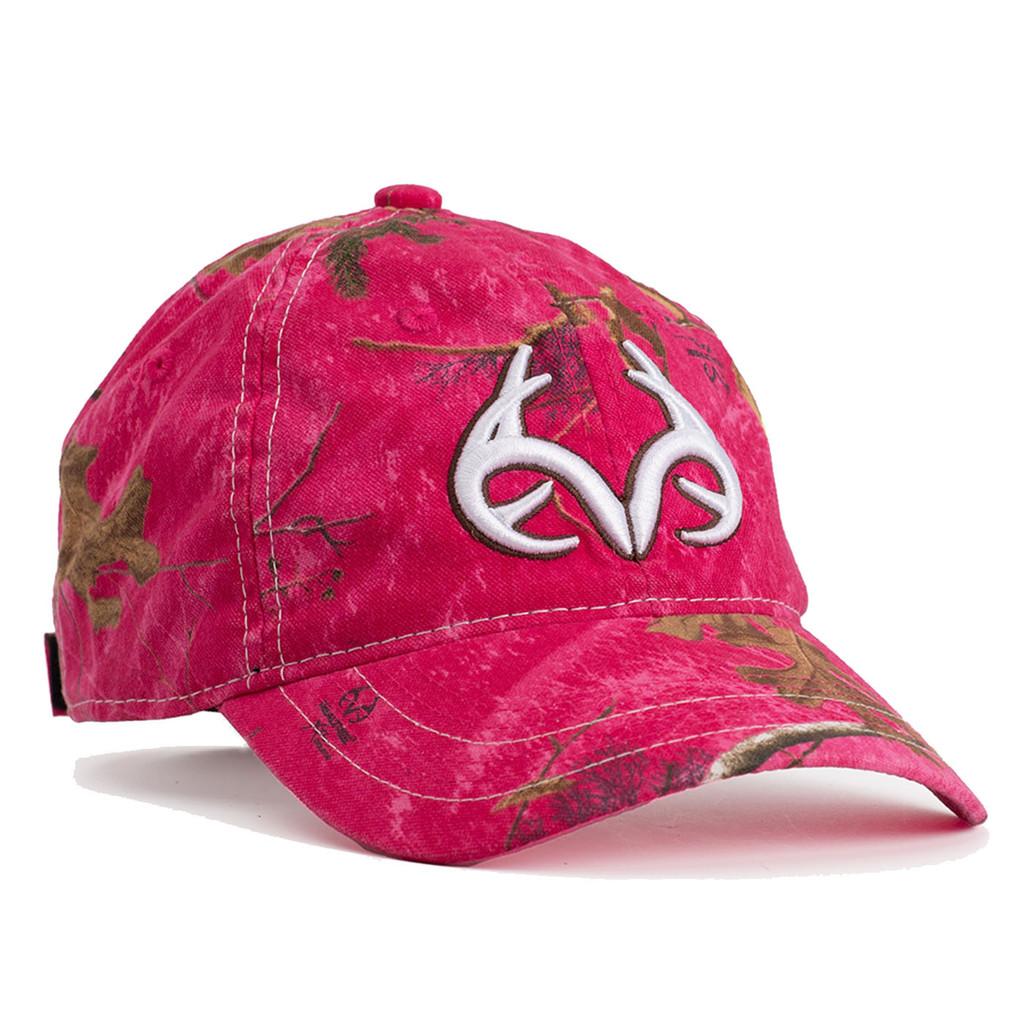 Realtree Women's Antler Logo Hat Hot Pink