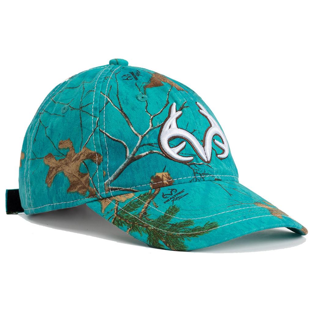 Realtree Women's Antler Logo Hat Teal