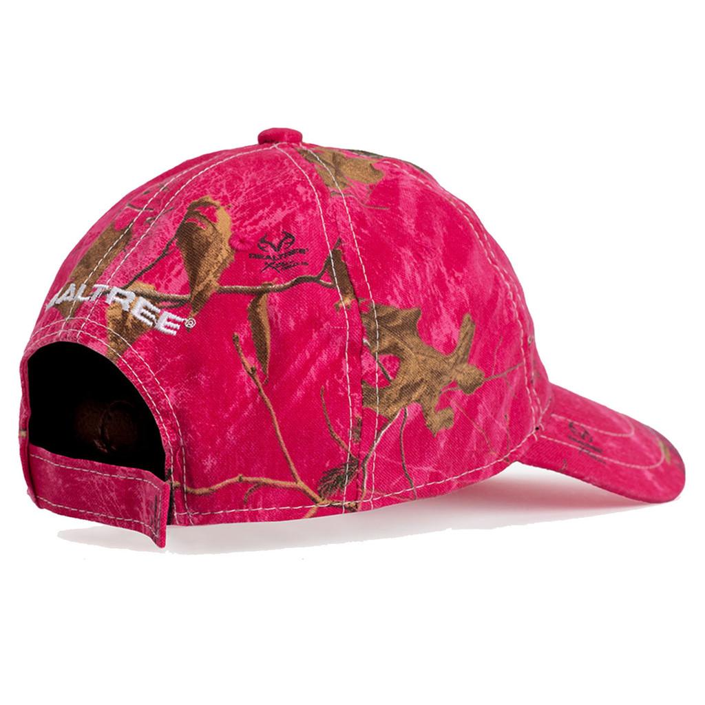 Realtree Women's Antler Logo Hat Hot Pink Back