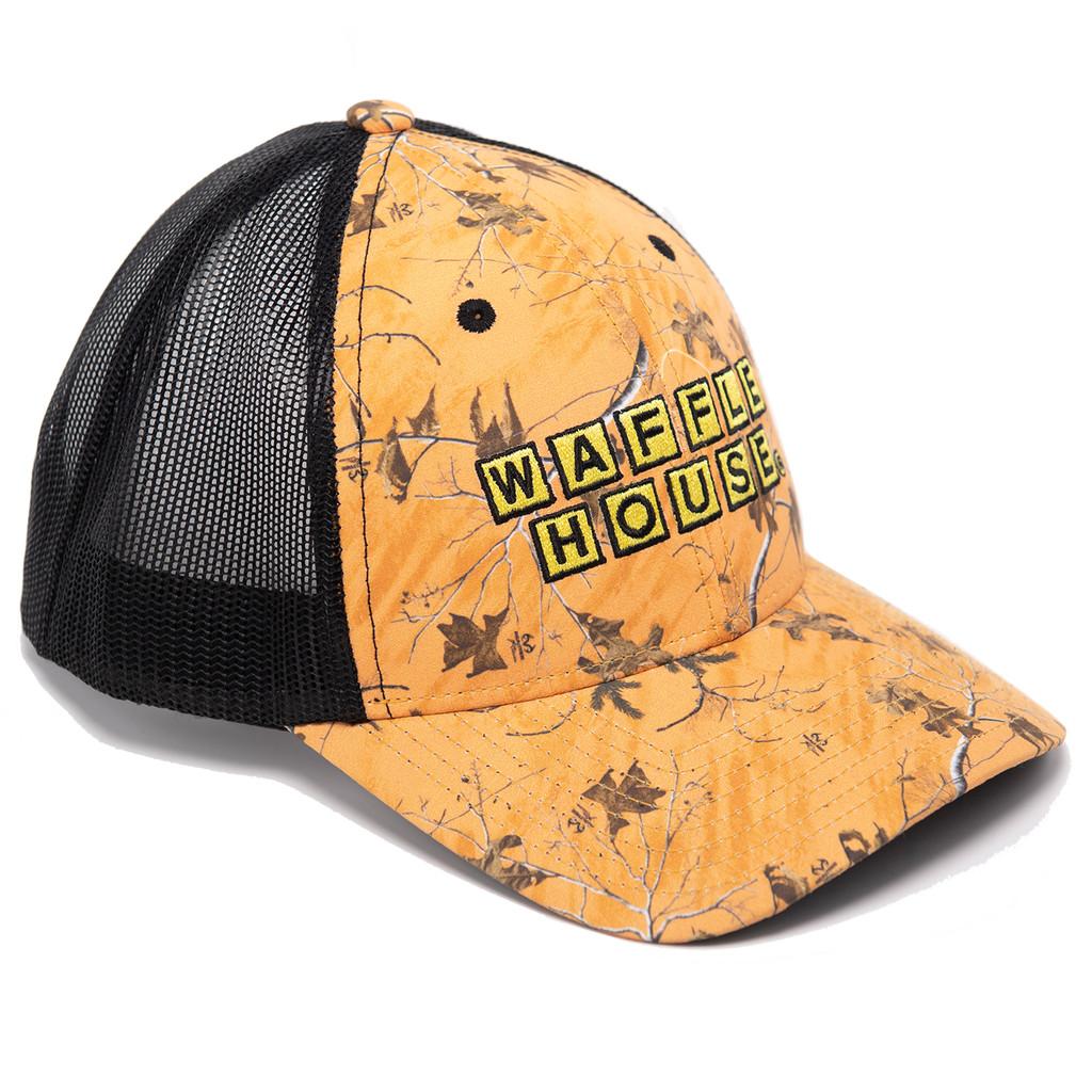 Waffle House Xtra Orange Camo Hat Side