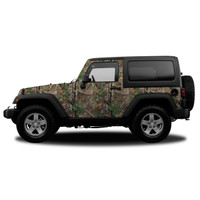 Realtree Camo Jeep/SUV Vehicle Wrap Xtra Green