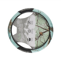 Realtree Mint 2-Grip Steering Wheel Cover Front
