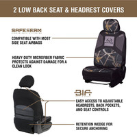 Realtree Black Camo Low Back Bucket Seat Cover information