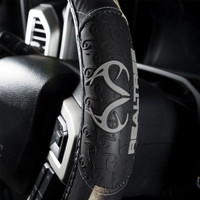 Realtree Black 2-Grip Steering Wheel Cover Side