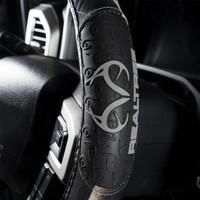 Realtree Black 2-Grip Steering Wheel Cover Side
