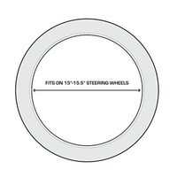 Realtree Black 2-Grip Steering Wheel Cover Size