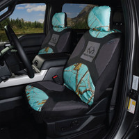 Realtree Mint Camo Low Back Bucket Seat Cover in Use