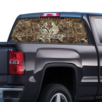 Realtree Logo and Camo Rear Window Film in Max-5