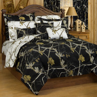 Realtree AP Snow Camo Sheet Sets Model of Bedding