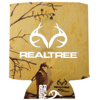 Realtree Magnetic Antler Logo Can Koozie Xtra Tropical Heat Front