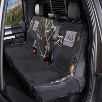 Realtree Black Switch Back Bench Seat Cover In use