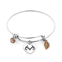 Realtree Charm Bangle-Stainless Steel Bracelet