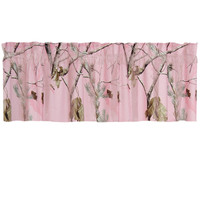 Realtree Camo Window Valance in AP Pink