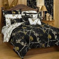Realtree AP Black/AP Snow Camo Comforter Set