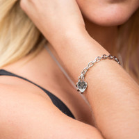 Realtree Heart Toggle Bracelet on Model