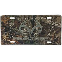 Realtree Camo Antler License Plate