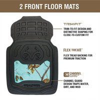 Realtree Mint Camo Front Floor Mats Information