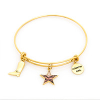 Realtree Country Girl Charm Bangle Bracelet in Gold