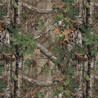 Realtree Camo Large Perforated Window Film Xtra Green