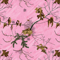 Realtree Camo Large Perforated Window Film Xtra Pink