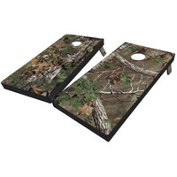Realtree Full Camo Cornhole Boards in Xtra Green