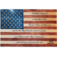 Realtree Veteran Made Pledge of Allegiance Flag Wall Decor