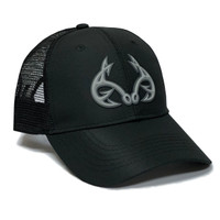 Realtree Fishing 3D Logo Black Hat Side