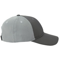 Realtree Fishing CoolQwick Gray Mesh Back Hat Side