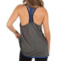 Women's Strappy Racerback Tank Back