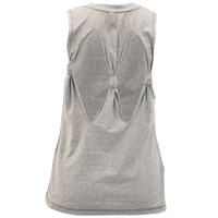 Women's Fishing Tie-Back Tank Gray Back Image