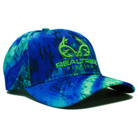 Realtree Fishing Blue Green Performance Hat Front
