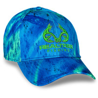 Realtree Fishing Blue Green Performance Hat