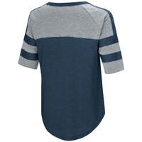 Women's Double Stripe Burnout Shirt Navy Back Image