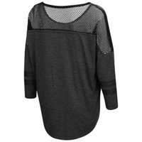 Women's Oversized 3/4 Sleeve Mesh Shirt Back