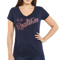 Women's Dual Blend V-neck Shirt in Navy