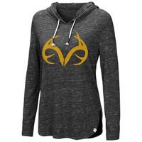 Women's Side Slit Hooded Shirt Image