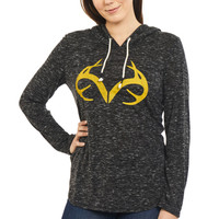 Women's Side Slit Hooded Shirt