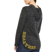 Women's Side Slit Hooded Shirt Back